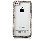 The Frame with Diamond Pattern Transparent Plastic Hard Case for iPhone5/5S