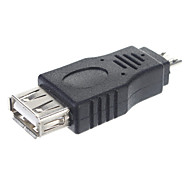 USB 2.0 A Female to Micro Male Adapter/OTG Connector Tablet/PC Connector(Black)
