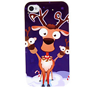Lovely Cartoon Pronghorn Pattern ABS Back Case for iPhone 4/4S