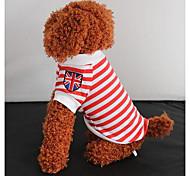 Pet British MiZiQi Stripe Unlined Upper Garment for Pets Dogs