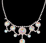 Wedding Elegant Rhinestone Crystal Earrings & Necklace Jewelry Set
