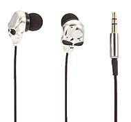 Skull-Shaped Stereo In-Ear Headphone(Black Eyes)