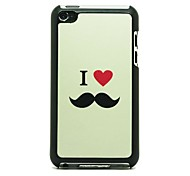 I Love Mustache  Pattern Hard Case for iPod touch 4
