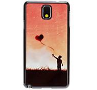 Voando Espelho Padrão Amor Balão Decal Suave Voltar Hard Case para Samsung Galaxy Note3 N9000