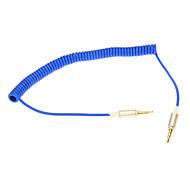 3,5 mm Ligne de ressort Audio Jack Câble de connexion (Bleu 0.2m)
