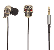 TM01 Skull-Shaped Stereo In-Ear Headphone(Gold)