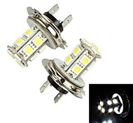 Merdia 3.9W 156LM H7 13x5050SMD LED White Light Car Fog Light / Headlamp (Pair /12V)