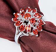 Classic Lady's Orange Zircon Ring 1Pc