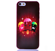 Three Color Ice Cream Pattern ABS Back Case for iPhone 5/5S