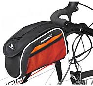 Cycling PU +840D Polyester Orange Wearproof Damping Sport Bicycle Tube Bag Shoulder Bag