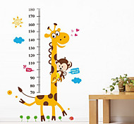 1PCS Colorful Giraffe Wall Sticker for Children Measuring Height