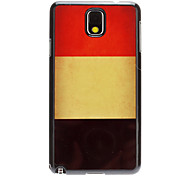 Vintage Design Belgian Flag Aluminum Hard Case for Samsung Galaxy Note3 N9000