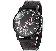 Homens Desportivo Round Dial borracha de silicone de quartzo analógico relógio de pulso (cores sortidas)