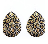 Leopard Drop Metal Earrings