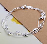Fashion 19cm Women's Silver Plated Alloy Chain Bracelets(1pc)
