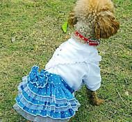 Style Abito da sposa in pizzo Modello per Animali Cani (colori assortiti, taglie)