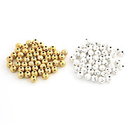 Fashion Sphere Gold Alloy DIY Beads 50 Pcs/Bag(Gold,Silver)