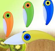 La forma del pájaro Bonito Mini cerámica cuchillo plegable, 2 pulgadas