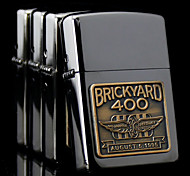 Personalized Father's Day Gift Engraved Brickyard Pattern Gray Oil Lighter