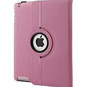 360 Degree Rotating Swivel Stand  PU Leather Case Smart Case Cover   for iPad 2/3/4