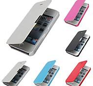 PU-Leder&PC-Abdeckungsfall für iphone 4 / 4s (verschiedene Farben)
