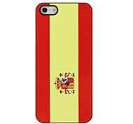 Top 32 World Cup Series Flag of Spain Pattern Hard Case for iPhone 5/5S