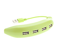 4 Ports USB 2.0 Banana Shaped High Speed HUB