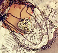 Retro Love Long Multilayer Pendant Necklace