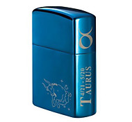 Personalized Father's Day Gift Engraved Horse Pattern Blue Oil Lighter