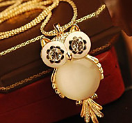 Owl opal Long Pendant Necklace