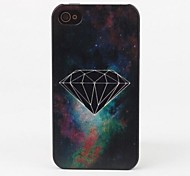 Black Diamond Protective Back Case for iPhone 4/4S