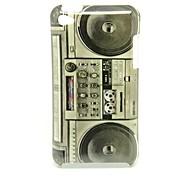 Patrón Nostalgic Radio Cassette Recorder Caso duro de la contraportada para iPod Touch4