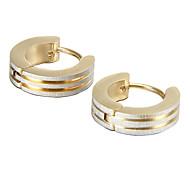 presente para namorado fashion polimento de aço titânio brincos de ouro (1 par)
