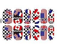 Professional Nail Salon drapeau ongle Foil Stickers Pour long doigt