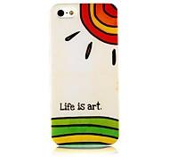 Leben ist Kunst-Muster-Silikon Soft Case für iPhone4/4S