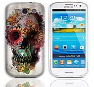 Skull and Butterfly Pattern Hard Case with 3-Pack Screen Protectors for Samsung Galaxy S3 I9300