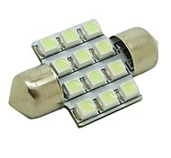 31mm 1W 12x3528 SMD 50lm Ice Blue Light LED Bulb for Car Festoon Dome Lamp (DC 12V)