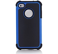 Hybrid Rugged Matte Rubber Hard Cover Case Full Body for iPhone 4/4S