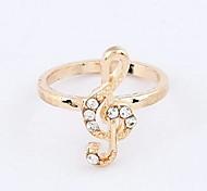 Korean Fashion Diamond Notes Individuality Ring