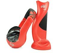 e688 ouvido de 3,5 mm sobre a orelha 6 em 1 stereo monitoramento oi-fi para a rádio fm / mp3 / pc / tv (preto / azul / vermelho)