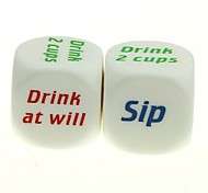 Drinkers' Wager Fun Game Dice (2 PCS)