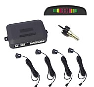 Car LED Parking Sensor Back Light Display Auto Reverse Backup Radar Detector System +4 Sensors