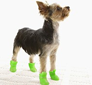 Cat / Dog Shoes & Boots Waterproof Black / Blue / Pink / Yellow / Purple Winter / Spring/Fall PlasticDog Shoes