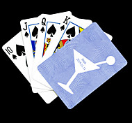 Regalo personalizado azul Copas Patrón Playing Card para Poker