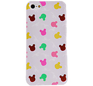 Colorful Rabbit Pattern PC Hard Case with Transparent Frame for iPhone 5/5S