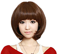 Short Curly Hair Synthetic Full Bang Wigs 3 Colors Available