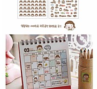 Little Girl PVC Transparent Diary Stickers Set(2 PCS)