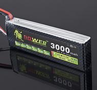 LION 11.1V 3000mAh 25C LiPo Battery(T plug)