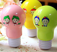 Lamp Bulb Design Cartoon Pattern Mini Fan(Random Color)