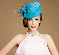 New Style Wool Ladies Party/ Outdoor/ Wedding Hat With Floral And Feather
